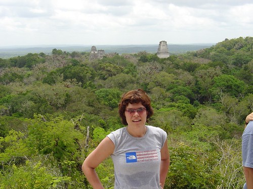 Jess overlooking Tikal | by brikmaster