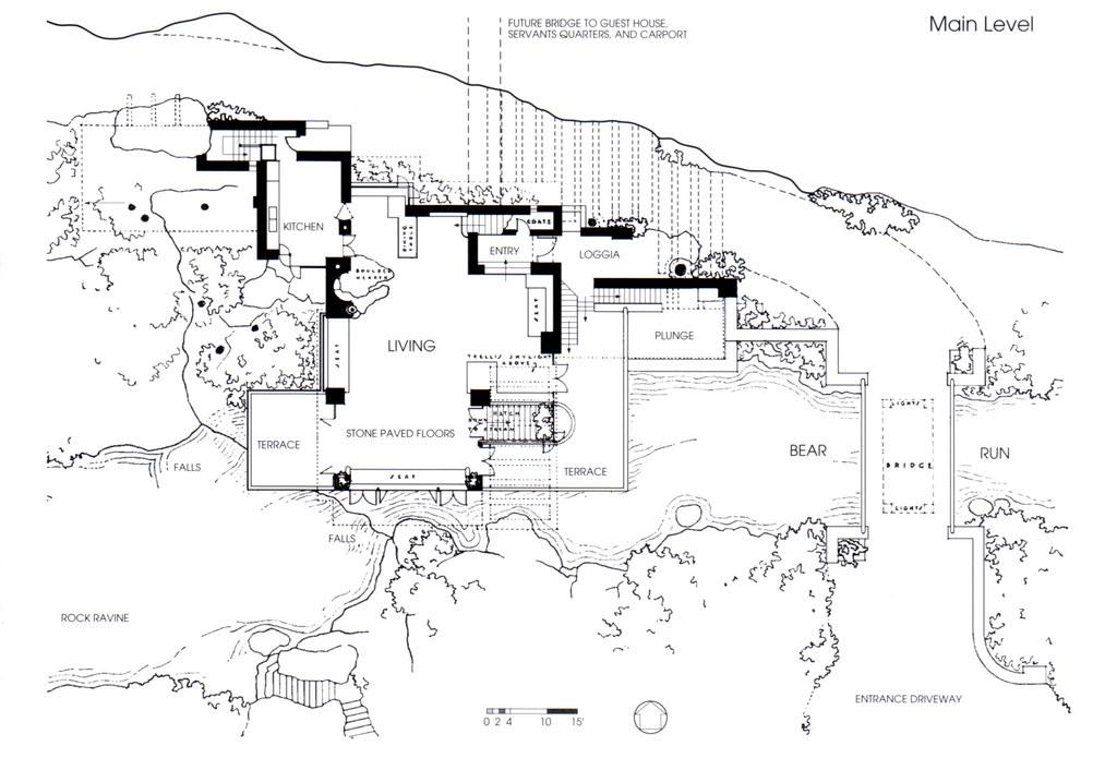 fallingwater  floor plan