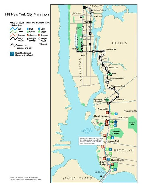Marathon Course Map | Alaina, Meg and I are going to run thr… | Flickr