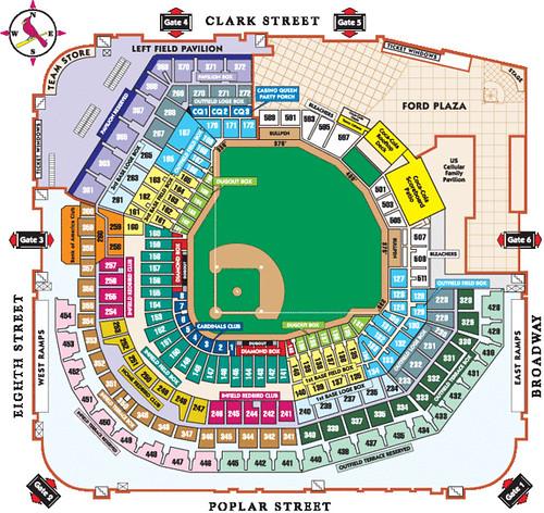 Busch Stadium Seating I Ve Got Tickets To Four Cardinals