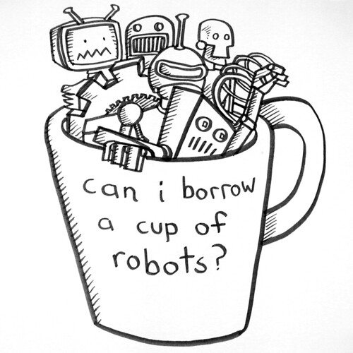 cup of robots ~ on white | by striatic