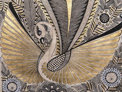Cisne en papel amate pintado por nora lechuga obra de - Como se pone el papel pintado ...