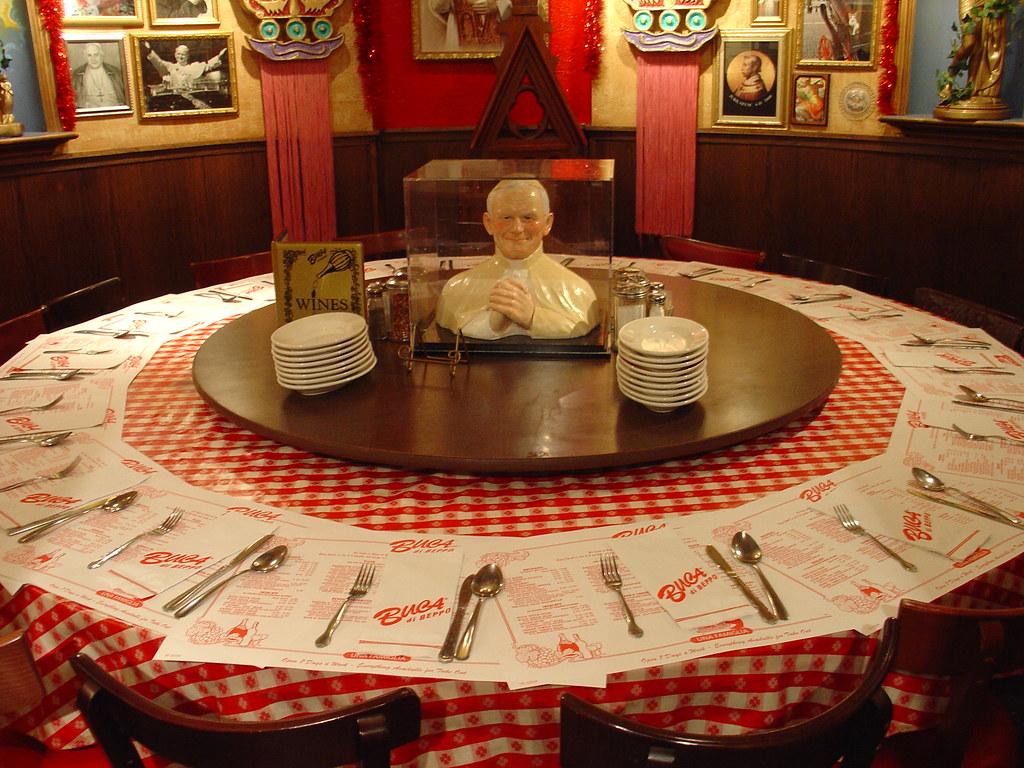 Pope room schlomo rabinowitz flickr - Buca di beppo pope table ...