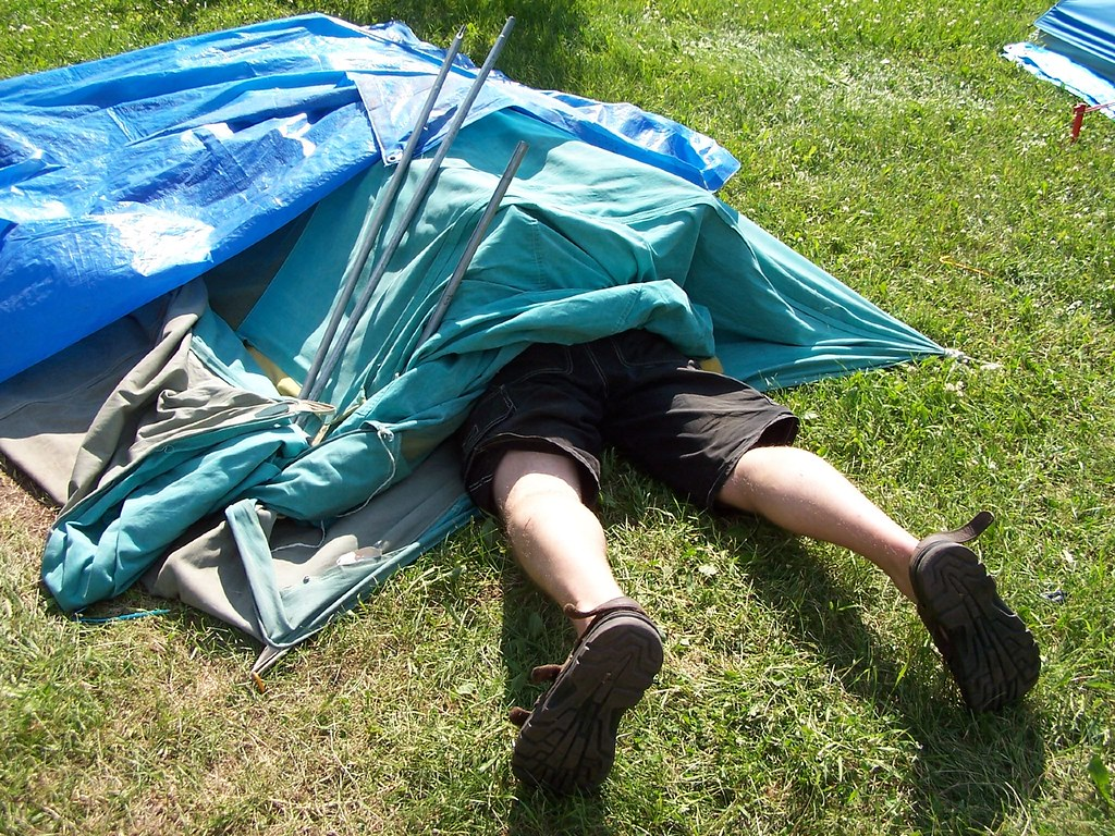 Image result for collapsed tent