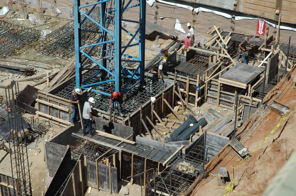 Tower crane foundation...