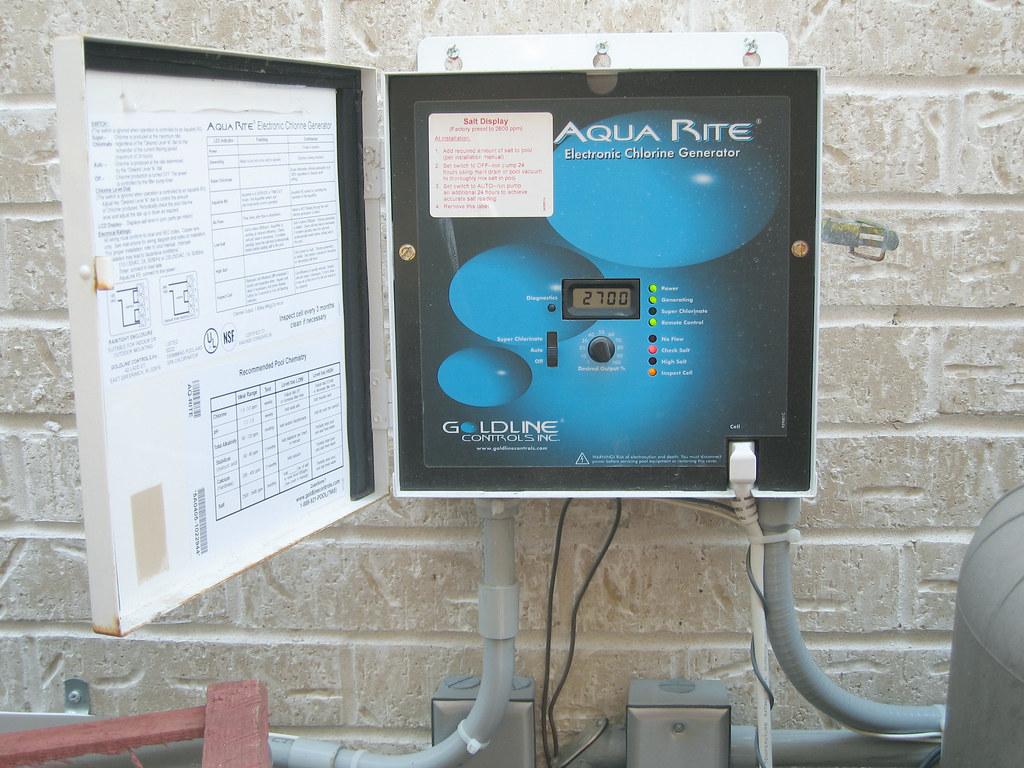 Goldline Aqua Rite Salt System Chlorine Generator A Salt