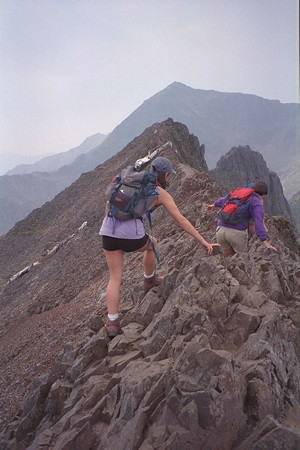 On Crib Goch on Snowden | by Euan