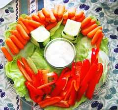 Happy Face Veggie Plate for Sierra's Birthday Party | by Kris Krug