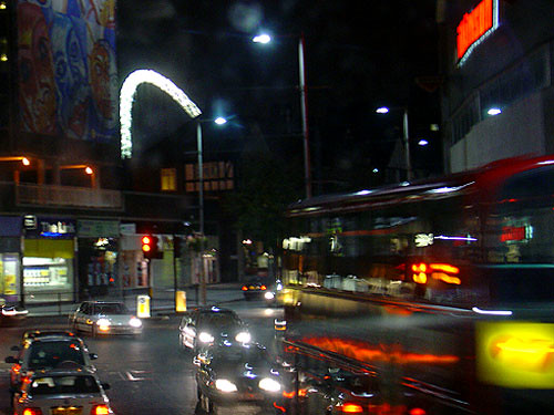 Wembley Stadium arch - lit up | by Route79