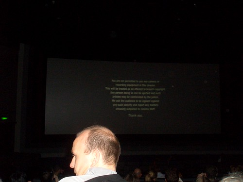 Insulting Copyright Notice At 8pm Showing Of The Aviator