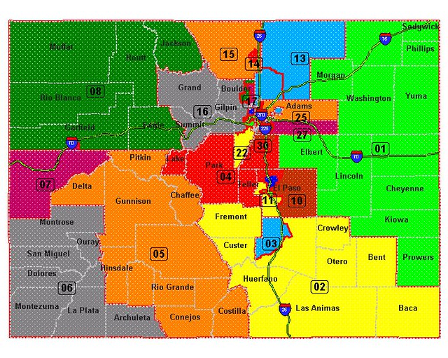 Map Of Colorado State Senate Districts  Blogicusmaximus
