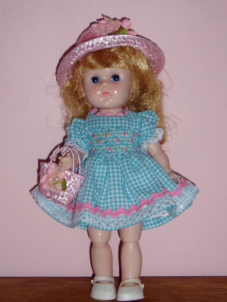 by Crazydolldresser Smocked dress for vintage Ginny size doll.   by  Crazydolldresser