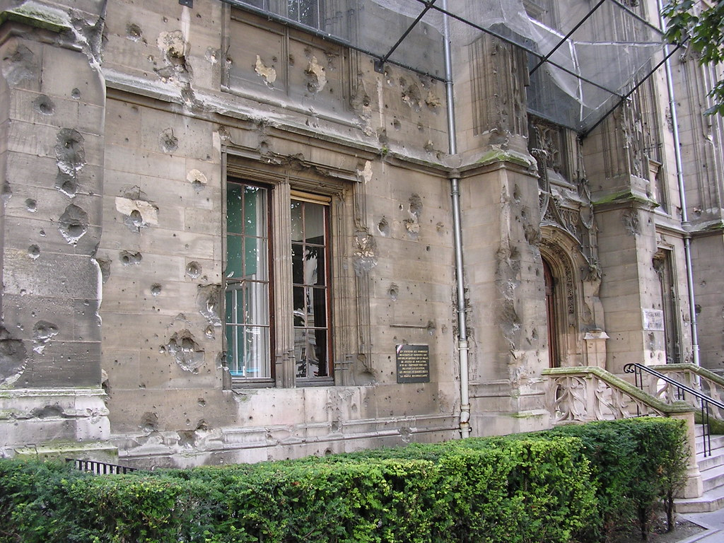 bullet holes in the palais de justice rouen like many oth flickr. Black Bedroom Furniture Sets. Home Design Ideas