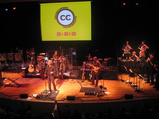 David Byrne with the Tosca Strings at the Creative Commons Benefit | by Kathryn Yu