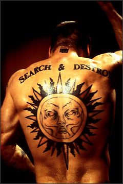 Henry Rollins Back Tattoo Of Sun Amp Search And Destroy Flickr