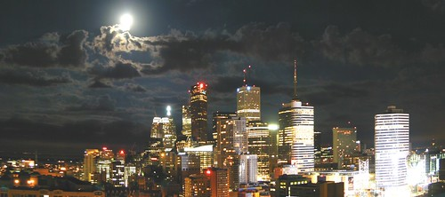 skyProject ~ moonlit toronto | by striatic