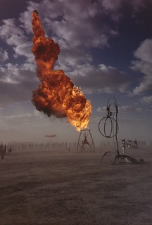 burning man flames | Dennis Yang | Flickr