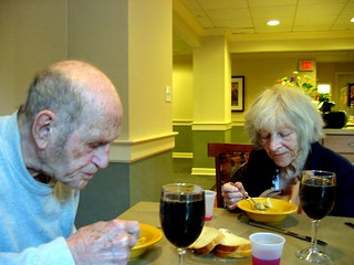eating matzoh ball soup | by Susan NYC