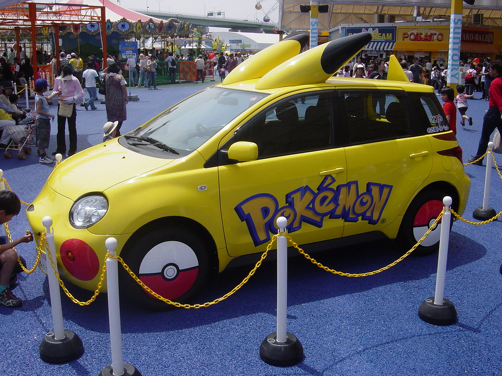 Pikachu Car Pikachu Car At Pokemon The Park Kamome Flickr