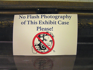 No Flash Photography of This Exhibit Case Please! | by Leo Reynolds