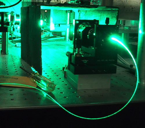 Argon-ion laser launches into fiber | by fatllama