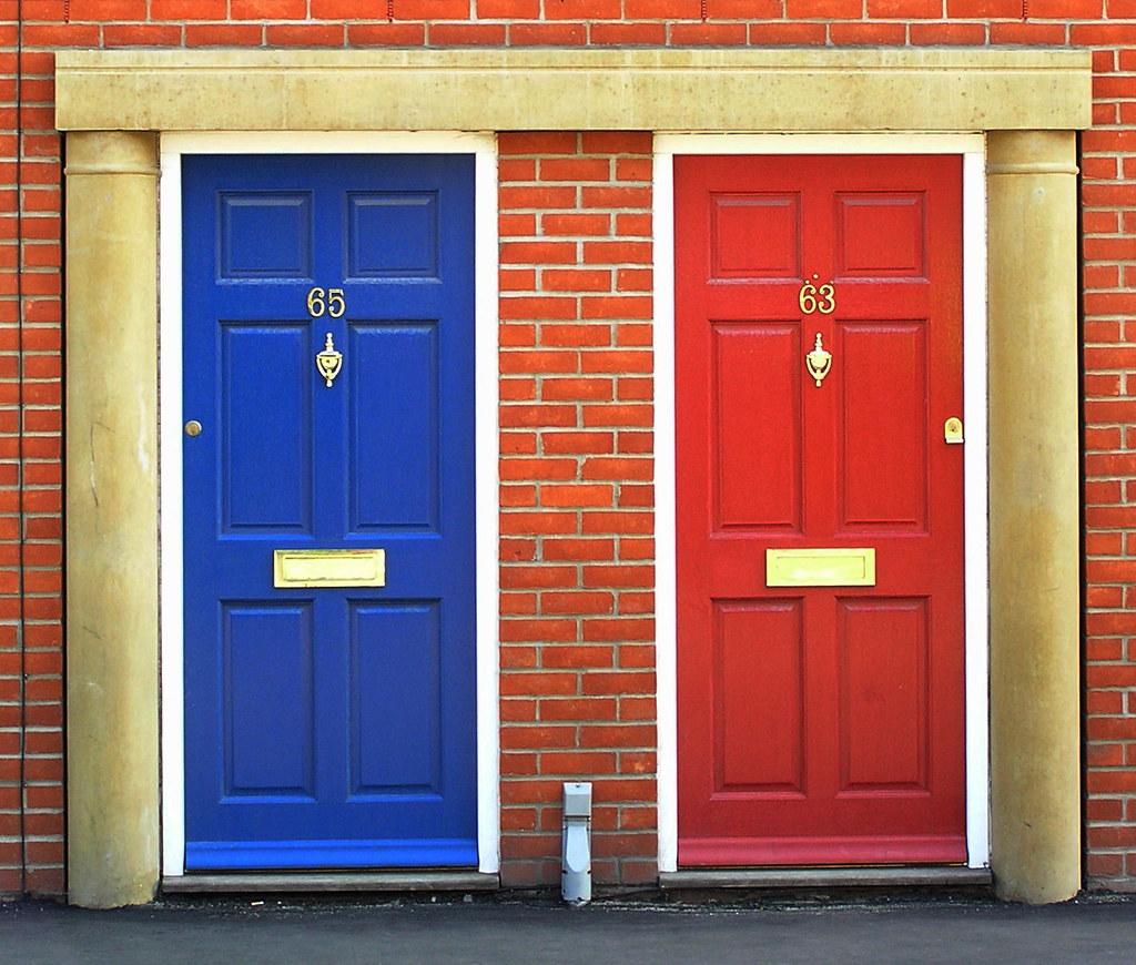 ... blue door and red door | by Leo Reynolds  sc 1 st  Flickr & blue door and red door | Duke Street Norwich Norfolk Engl\u2026 | Flickr