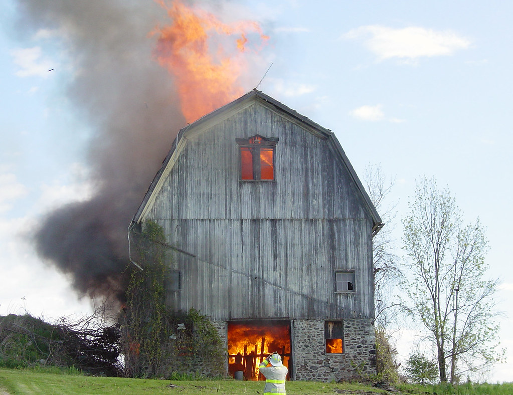 barn burning flickr