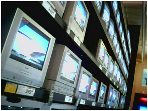 wall of tv's 2 | by Julep67