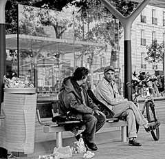 Bench conversation | by dariuszka