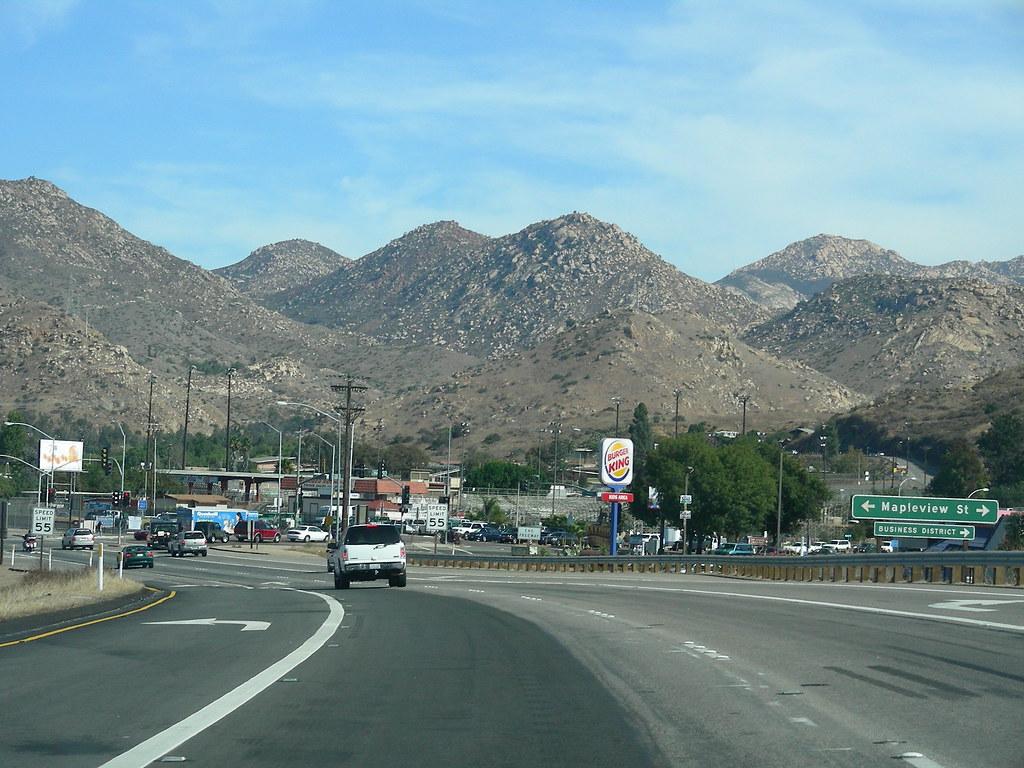 Lakeside, CA   California Highway 67 as it passes through ...