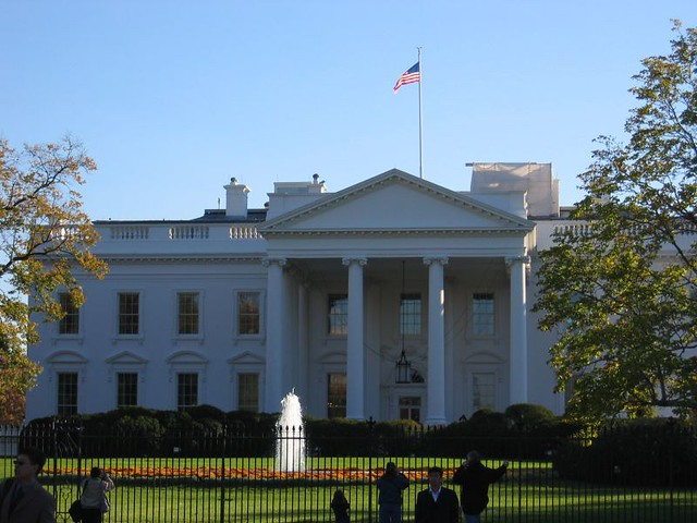 The White House, front view | The Executive Branch at 1600 ...