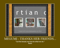 Megumi - thanks her friends... | by martian cat