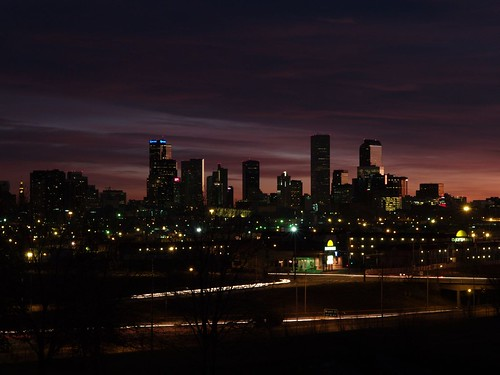 Denver Skyline before sunrise | by Kathy Fenton