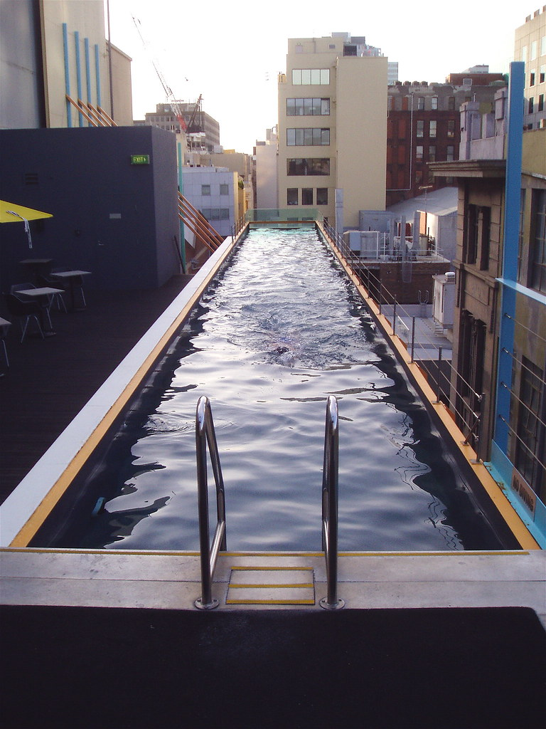 Lane Roof Pool Adelphi Hotel Melbourne This Is 9 Floors U Flickr