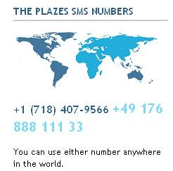 Plazes SMS numbers | by TonZ