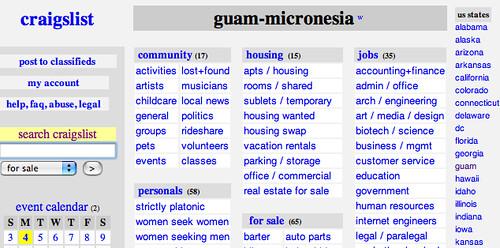 Craigslist guam jobs