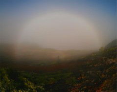 Fogbow and the spectre of the Brocken | by tumanb