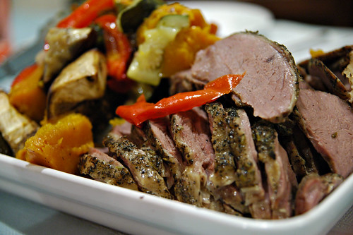 08 oven roasted lamb with peppers and squash | by Chewy Chua