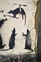 Banksy - Rats Helicopter Port Close by HowAboutNo!