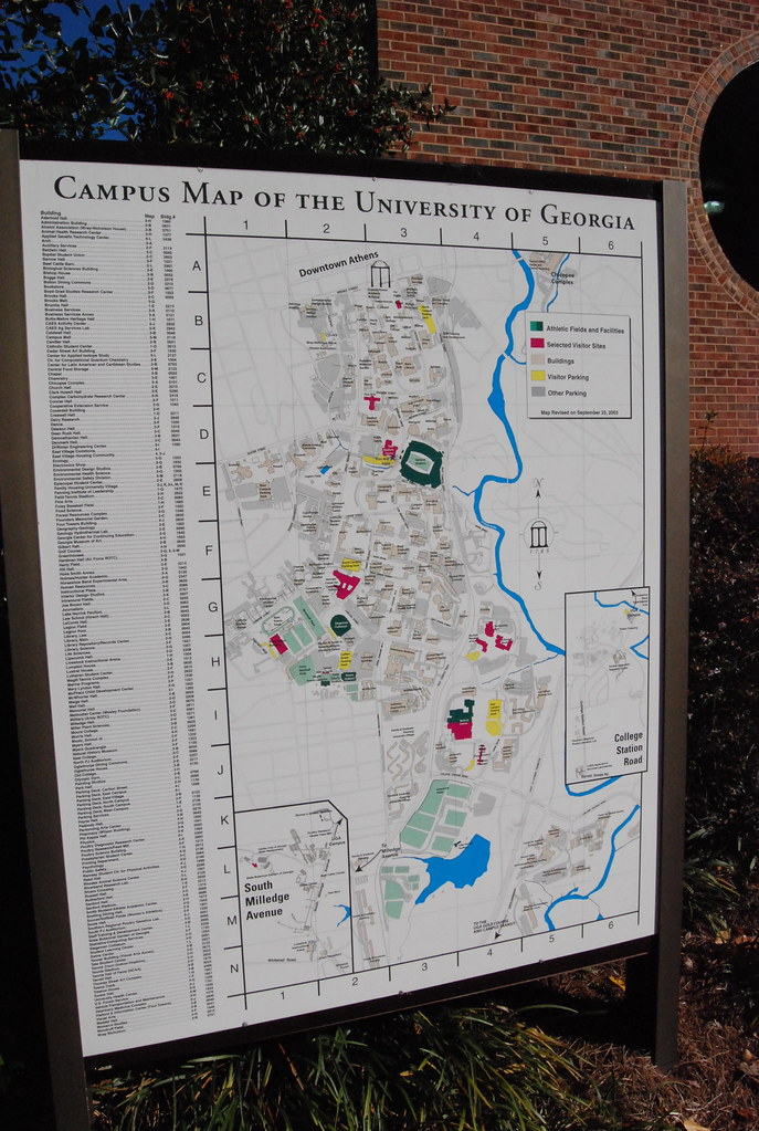 Uga Campus Map With Building Numbers.Uga Campus Map Josh Hallett Flickr