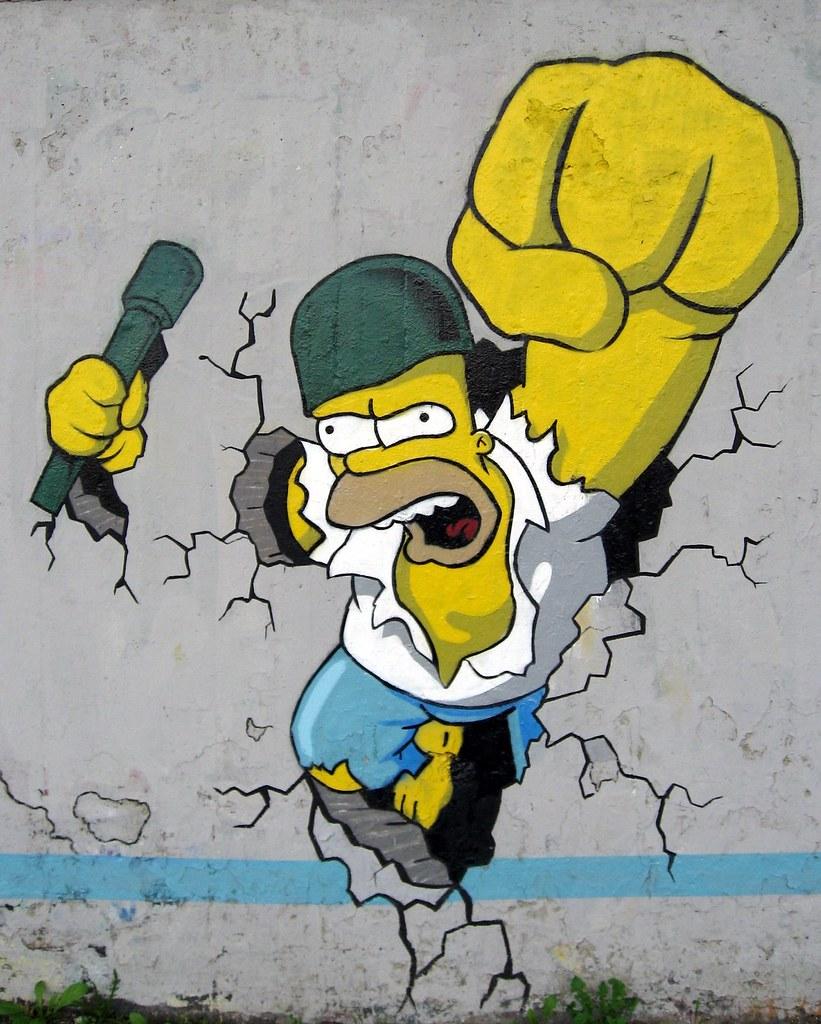 Homer simpson graffiti by nakor warsaw duncan c flickr for Immagini graffiti hd