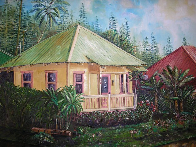 Lanai plantation house a lanai city scene by lanai for What is a lanai in a house