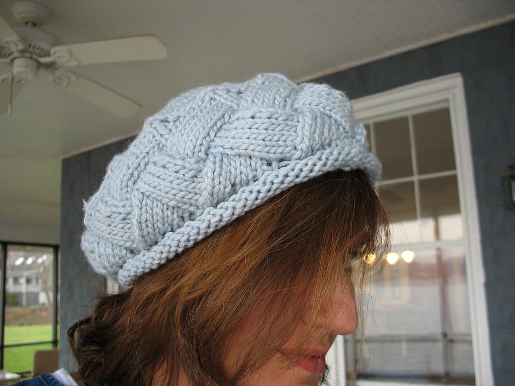 Entrelac Beret Knitting Pattern : Entrelac Beret