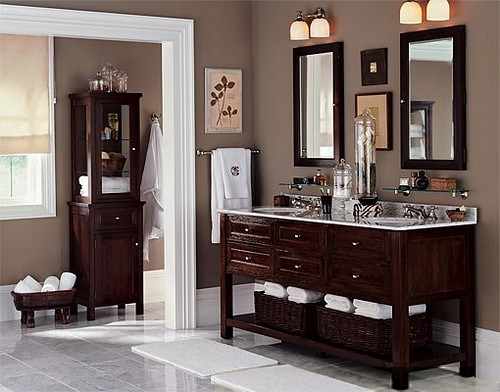 Taupe Bathroom By Pottery Barn Benjamin Moore For An Art Flickr