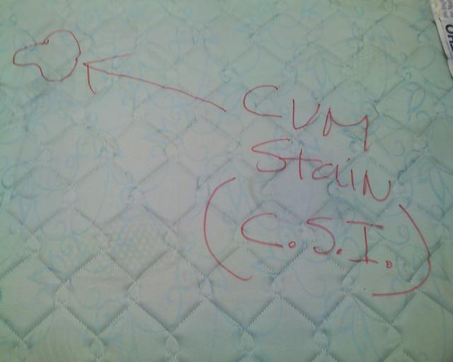 c.s.m. (cum stained mattress)   Devin Emke   Flickr