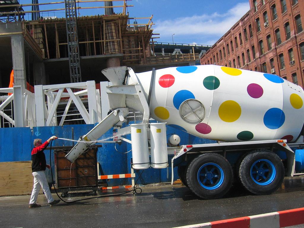 polkadot cement truck jeremy flickr