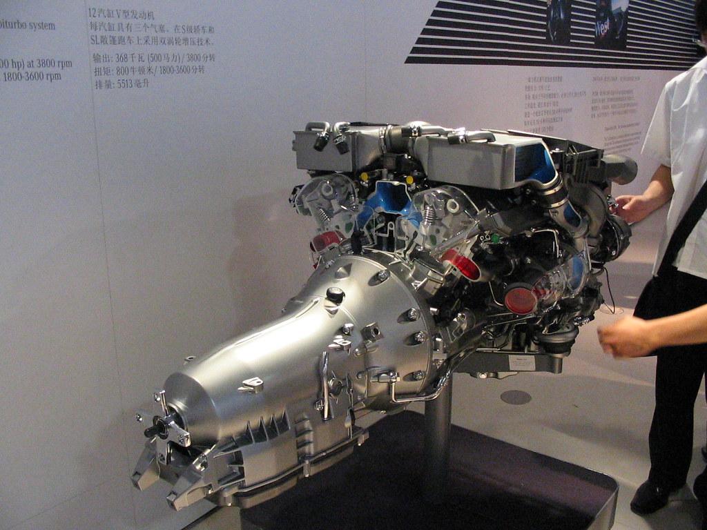 Mercedes benz v12 engine mu qian flickr for Mercedes benz v 12 engine
