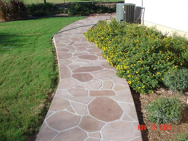 ... Faux Stone Sidewalk | By Varsity Pools And Patios