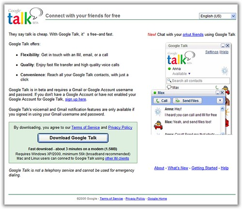 Google talk video call software free download for windows 7