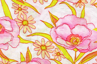 Vintage Fabric - watercolor floral | by kmel